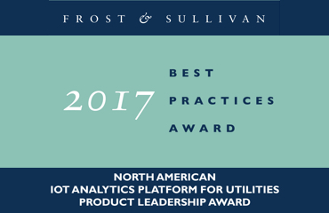 Frost and Sullivan 2017 Best Practices Award - North American IOT Analytics Platform for Utilities Product Leadership Award