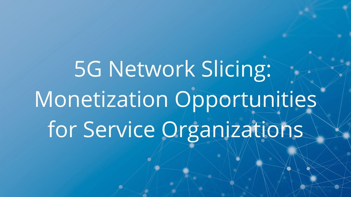 5G Network Slicing: Monetization Opportunities for Service Organizations