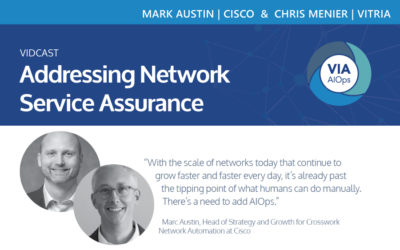 Addressing Network Service Assurance: A conversation with Chris Menier of Vitria and Marc Austin of Cisco Vidcast